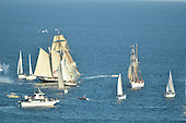 Royalty Free Stock photo of tall ships at sea