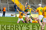 Action from Kerry v Antrim in the NHL Div 2A hurling game in Austin Stack Park on Sunday