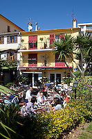 Jacques Maximin's restaurant 'Le Bistro de la Marine', Cagnes sur Mer, France, 07 April 2012. The restaurant occupies an 1869 fisherman's house on the seafront of Cagnes sur Mer.