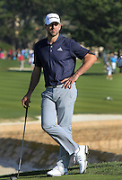 160213 Green Bay Quarterback Aaron Rodgers during Saturday's Third Round of The AT&T National Pro Am at The Pebble Beach Golf Links in Carmel, California. (photo credit : kenneth e. dennis/kendennisphoto.com)