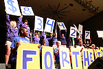 DanceBlue committee members reveal the total amount of money raised for DanceBlue on March 3, 2012 in Memorial Coliseum.
