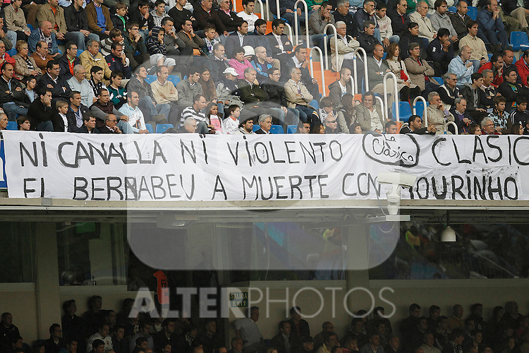 Real Madrid's supporters during Spanish League match on April 30, 2011...Photo: Cebolla Cid-Fuentes / ALFAQUI