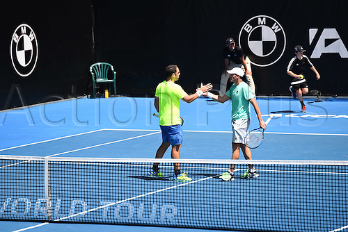 12.01.2017. ASB Tennis Centre, Auckland, New Zealand. ASB Classic Tennis, Day 13. Scott Lipsky and Jonathan Erlich during the ASB Classic.