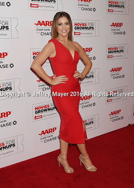 BEVERLY HILLS, CA - FEBRUARY 08: TV personality Stephanie Bauer attends AARP's Movie For GrownUps Awards at the Regent Beverly Wilshire Four Seasons Hotel on February 8, 2016 in Beverly Hills, California.