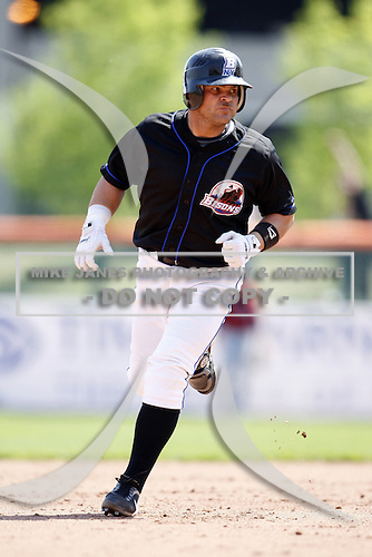 May 23, 2009:  First Baseman Javier Valentin of the Buffalo Bisons, International League Triple-A affiliate of the New York Mets, during a game at Coca-Cola Field in Buffalo, NY.  Photo by:  Mike Janes/Four Seam Images