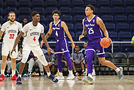 Washington, DC - December 22, 2018: High Point Panthers forward Ricky Madison (25) looks to pass the ball during the DC Hoops Fest between Hampton and Howard at  Entertainment and Sports Arena in Washington, DC.   (Photo by Elliott Brown/Media Images International)