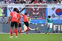 WC in Russia Group F 3 Gameday Kazan South Korea Germany Young Gwon Kim No 19 South Korea scored against TW Manuel Neuer Nr 1 Germany the Goal to 1 0 27 06 2018 Copyright: xMatthiasxKochx  <br /> Kazan 27-06-2018 Football FIFA World Cup Russia  2018 <br /> South Korea - Germany / Corea del Sud - Germania<br /> Foto Imago/Insidefoto