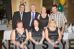 CERMONY: Enjoying a great night at the John Mitchels GAA Banquet, in Ballygarry Hpouse Hotel, Tralee on Sunday night. Frontn l-r: Anita Ryle, Brid McElligott and Noreen Lynch. Back l-r: Frank Ryle, Domnic and Debbie Cunningham and Bernard Lynch.