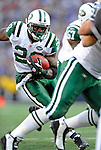 2 November 2008:  New York Jets' running back Thomas Jones scores a touchdown in the third quarter against the Buffalo Bills at Ralph Wilson Stadium in Orchard Park, NY. The Jets defeated the Bills 26-17 improving their record to 5 and 3 for the season...Mandatory Photo Credit: Ed Wolfstein Photo