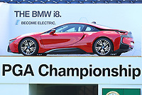 BMW I8 at the main grandstand on the 18th green during the BMW PGA Golf Championship at Wentworth Golf Course, Wentworth Drive, Virginia Water, England on 25 May 2017. Photo by Steve McCarthy/PRiME Media Images.