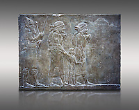 Stone relief sculptured panel of prisoners from the campaign of Elam. From the palace of Ashurnasirpal II  room VI/T1, Nineveh, circa 645 BC. inv 19908  Louvre Museum , Paris