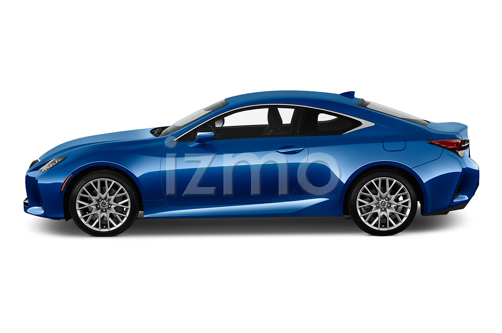Car driver side profile view of a 2019 Lexus RC 350 2 Door Coupe
