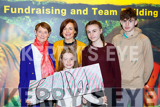 Annie O'Donoghue, Maeve, Siobahin, Muireann and Patrick  Darcy  cheering on Rory Darcy at the Killarney I'm a Celebrity in the INEC on Thursday night