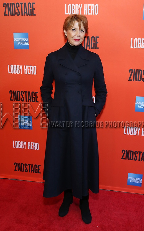 "Annette Bening attending the Broadway Opening Night Performance of  ""Lobby Hero"" at The Hayes Theatre on March 26, 2018 in New York City."