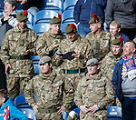 Soldiers in the stands