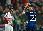 Henrikh Mkhitaryan of Manchester United applauds the fans as he is substituted  during the UEFA Europa League Final match at the Friends Arena, Stockholm. Picture date: May 24th, 2017.Picture credit should read: Matt McNulty/Sportimage