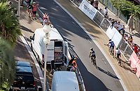 race finale for the 3 race leaders: Julian Alaphilippe (FRA/Deceuninck-QuickStep), Marc Hirschi (SUI/Sunweb) & Adam Yates (GBR/Mitchelton-Scott)<br />