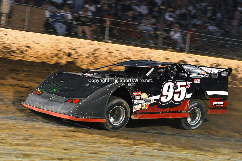 Sep 10, 2010; 8:17:44 PM; Rossburg, OH., USA; The 40th annual running of the World 100 Dirt Late Models racing for the Globe trophy at the Eldora Speedway.  Mandatory Credit: (thesportswire.net)