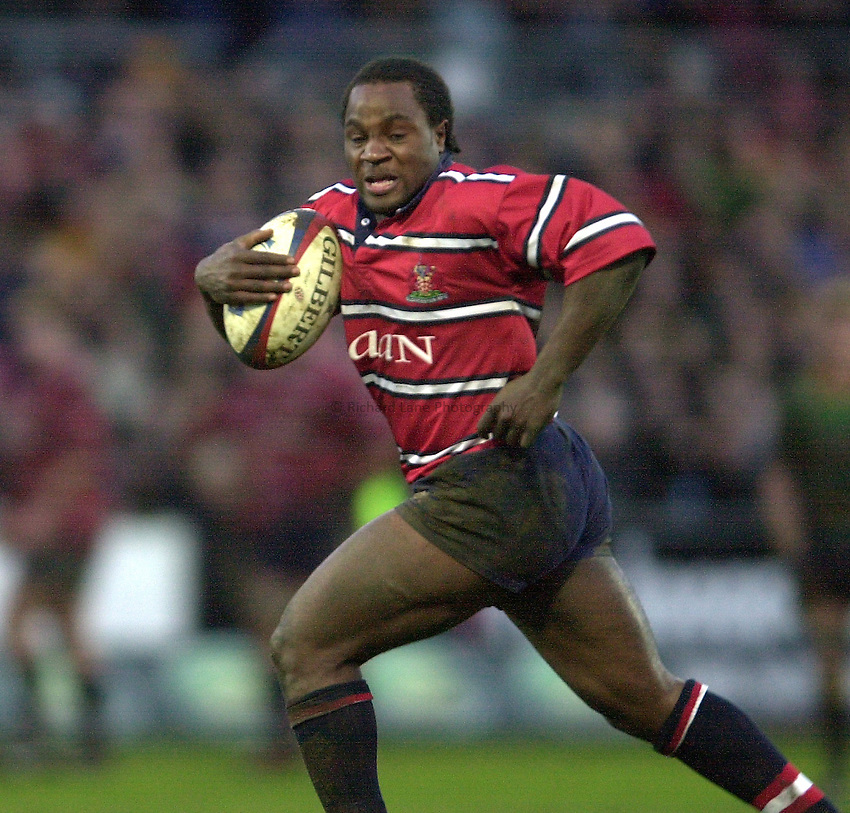 Photo - Peter Spurrier.28/12/2002.Sport - Rugby - Zurich Premiership .Northampton Saints v Gloucester RFC.Marcel Garvey