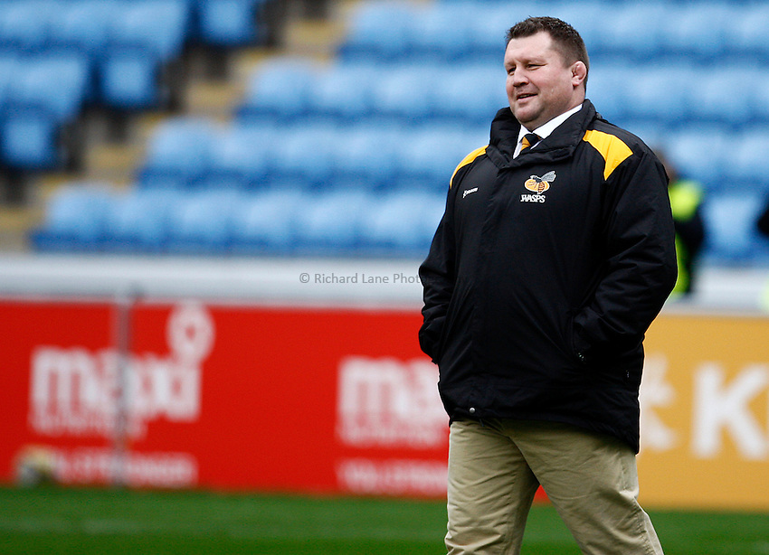Photo: Richard Lane/Richard Lane Photography. Wasps v Gloucester Rugby. Aviva Premiership. 01/03/2015. Wasps' Director of Rugby, Dai Young.