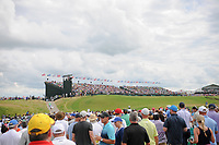 A wide look at the 18th green during Saturday's round 3 of the 117th U.S. Open, at Erin Hills, Erin, Wisconsin. 6/17/2017.<br /> Picture: Golffile | Ken Murray<br /> <br /> <br /> All photo usage must carry mandatory copyright credit (&copy; Golffile | Ken Murray)