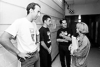 July 1992 File Photo - Juste Pour Rire Festival - Les Bizarroides -In photo (L to R) :  Martin Petit, Guy Levesque, Stephane E Roy