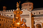 Piazza Duomo with the late Baroque Fountain of Neptune in the center and the Cathedral in the background