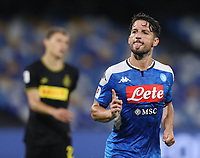 13th June 2020; Stadio San Paolo, Naples, Campania, Italy; Coppa Italia Football, Napoli versus Inter Milan; Dries Mertens of Napoli celebrates after scoring his goal for 1-1 in the 41st minute