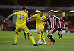 Mark Duffy of Sheffield Utd dances into the box during the League One match at Bramall Lane Stadium, Sheffield. Picture date: September 27th, 2016. Pic Simon Bellis/Sportimage