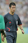 13 August 2008: Referee Wolfgang Stark.  The men's Olympic team of Nigeria defeated the men's Olympic soccer team of the United States 2-1 at Beijing Workers' Stadium in Beijing, China in a Group B round-robin match in the Men's Olympic Football competition.