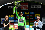 Green Jersey Wout Van Aert (BEL) Team Jumbo-Visma wins Stage 5 of the Criterium du Dauphine 2019, running 201km from Boen-sur-Lignon to Voiron, France. 13th June 2019.<br /> Picture: ASO/Alex Broadway | Cyclefile<br /> All photos usage must carry mandatory copyright credit (© Cyclefile | ASO/Alex Broadway)