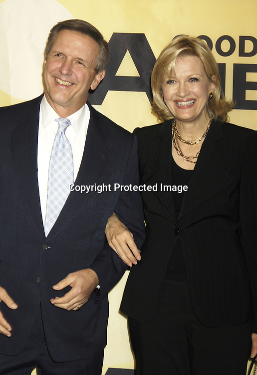Charlie Gibson and Diane Sawyer ..at the 30th Anniversary Celebration of Good Morning America on October 25, 2005 at Avery Fisher Hall ...Photo by Robin Platzer, Twin Images