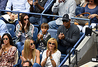 FLUSHING NY- SEPTEMBER 10: *** NO NY DAILIES***  2017 US Open Men's Final - Rafael Nadal Vs Kevin Anderson: Tiger Woods and his son Charlie Axel Woods attend todays Championship match on Arthur Ashe Stadium during the US Open at the USTA Billie Jean King National Tennis Center on September 10, 2017 in Flushing Queens. <br /> CAP/MPI04<br /> &copy;MPI04/Capital Pictures
