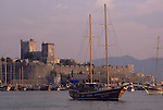Asia, TUR, Turkey, Aegean Coast, Marmaris, Bodrum, Sailing ship, Port, Bay harbour, Castle of St John....[ For each utilisation of my images my General Terms and Conditions are mandatory. Usage only against use message and proof. Download of my General Terms and Conditions under http://www.image-box.com or ask for sending. A clearance before usage is necessary...Material is subject to royalties. Each utilisation of my images is subject to a fee in accordance to the present valid MFM-List...Contact | archive@image-box.com | www.image-box.com ]