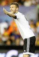 Valencia's Shkodran Mustafi during Champions League 2015/2016 Play-Offs 1st leg match. August  19,2015. (ALTERPHOTOS/Acero)