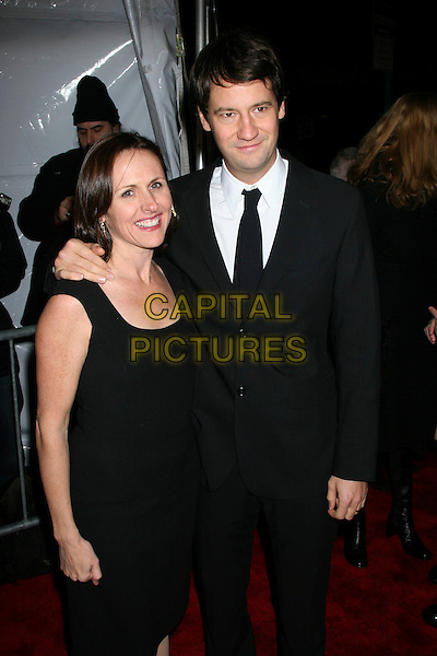 """MOLLY SHANNON & FRITZ CHESTNUT.""""The Producers"""" New York Premiere at the Ziegfeld Theatre, New York City..December 4th, 2005 .Ref: IW.half length black suit jacket dress hand on shoulder.www.capitalpictures.com.sales@capitalpictures.com.©Capital Pictures"""