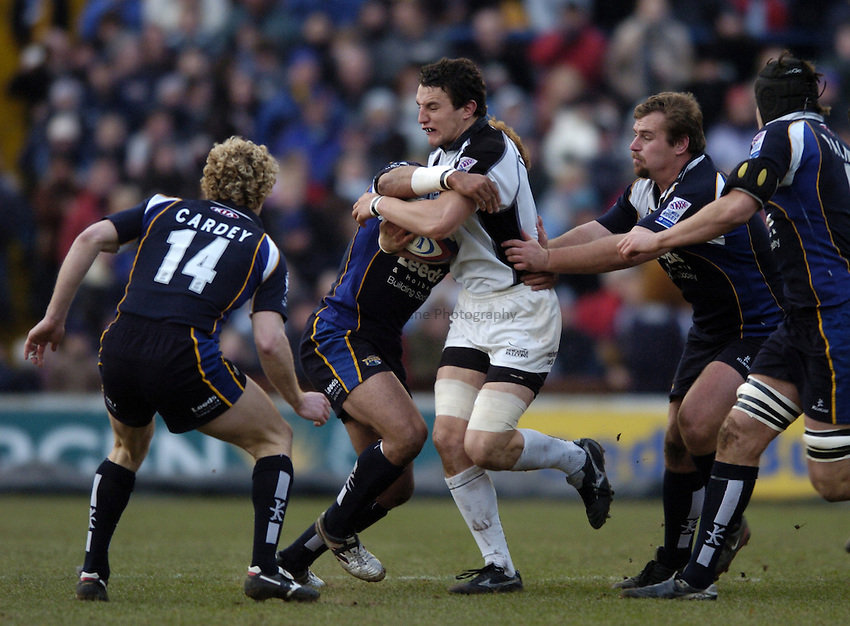Photo. Jed Wee..Leeds Tykes v Newcastle Falcons, Zurich Premiership, 27/12/2004..Newcastle's Phil Dowson.