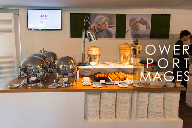 UBS pavilion at UBS Hong Kong Open golf tournament at the Fanling golf course on 25 October 2015 in Hong Kong, China. Photo by Aitor Alcade / Power Sport Images