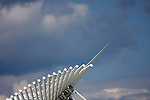The wings of the Cavatrava in Downtown Milwaukee.  Milwaukee Public Art Museum on the shore of Lake Michigan