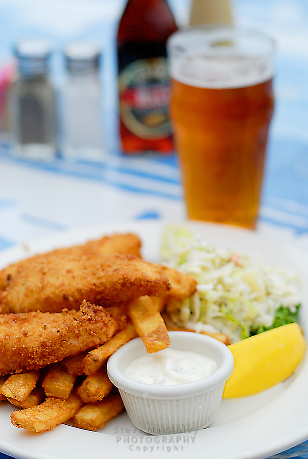 Fish and Chips and Pint of Beer