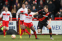 Anthony Grant of Stevenage holds off Kevin McDonald of Sheffield United. Stevenage v Sheffield United - npower League 1 -  Lamex Stadium, Stevenage - 16th March, 2013. © Kevin Coleman 2013.. . . .