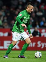 FUSSBALL   1. BUNDESLIGA   SAISON 2011/2012   21. SPIELTAG Werder Bremen - 1899 Hoffenheim                        11.02.2012 Marko Arnautovic (SV Werder Bremen)  Einzelaktion am Ball