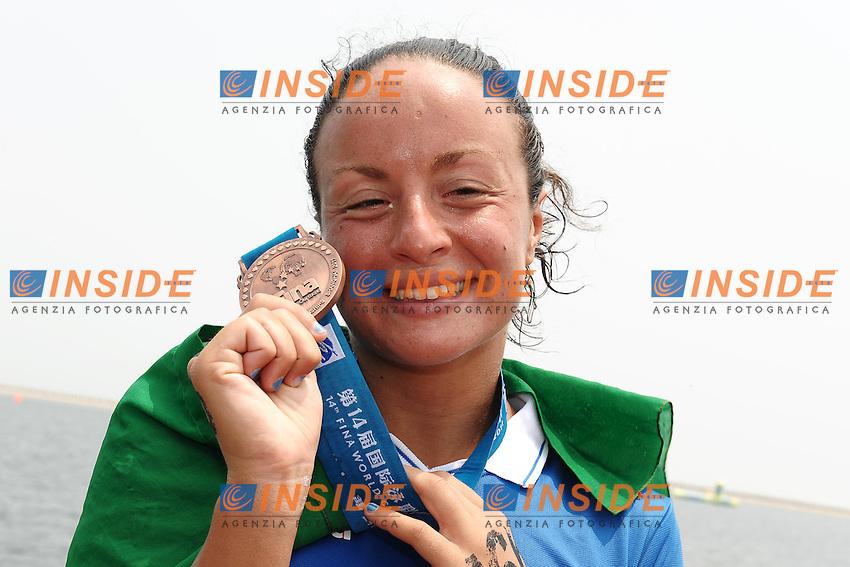 Alice FRANCO Italia medaglia di bronzo.Women's 25Km Open Water .Shanghai 232/7/2011 .14th FINA World Championships.Foto Andrea Staccioli Insidefoto