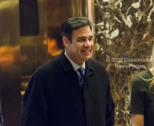 United States Representative Ra&uacute;l Labrador (Republican of Idaho) is seen waiting for an elevator in the lobby of Trump Tower in New York, NY, USA upon his arrival for a meeting with US President-elect Donald Trump on December 12, 2016. <br /> Credit: Albin Lohr-Jones / Pool via CNP