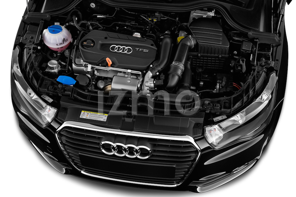 High angle engine detail of a 2014 Audi A1 Ambition 3 Door Hatchback 2WD