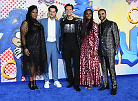 "12 February 2020 - Los Angeles, California - Natasha Rothwell, Ben SChwartz, Jim Carrey, Tika Sumpter, Lee Majdoub. ""Sonic the Hedgehog"" Los Angeles Premiere held at the Regency Village Theater. Photo Credit: Birdie Thompson/AdMedia"