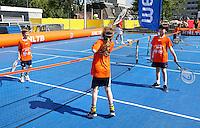 Topscore Amsterdamse Straattennis Cup bij het Olympisch Stadion. Straattennis voor de jeugd in Amsterdam
