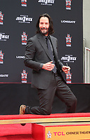 HOLLYWOOD, CA - MAY 14: Keanu Reeves, at the Keanu Reeves Hand And Foot Print Ceremony at the TCL Chinese Theatre IMAX in Hollywood, California on May 14, 2019. <br /> CAP/MPIFM<br /> &copy;MPIFM/Capital Pictures