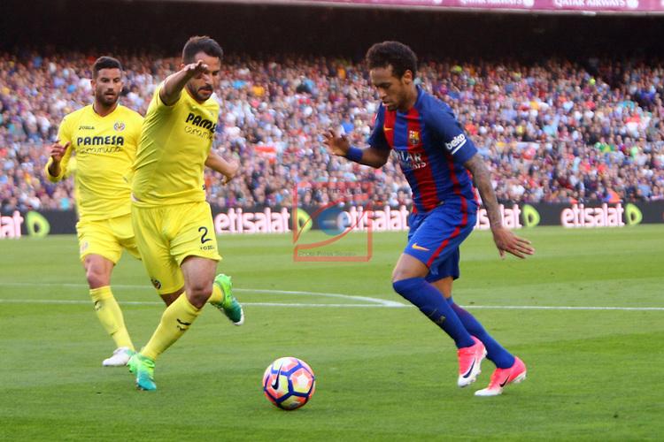 League Santander 2016/2017. Game: 36.<br /> FC Barcelona vs Villarreal CF: 4-1.<br /> Mario vs Neymar Jr.