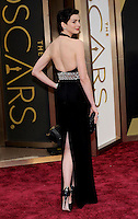 HOLLYWOOD, CA - MARCH 2: Anne Hathaway arriving to the 2014 Oscars at the Hollywood and Highland Center in Hollywood, California. March 2, 2014. Credit: SP1/Starlitepics. /NORTePHOTO